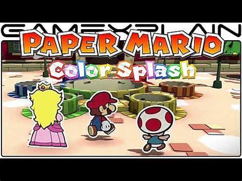 Paper mario color splash writing
